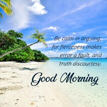 good-morning-be-calm-with-beach-image