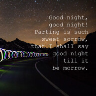 goodnight-message-with-blur-car