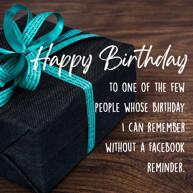 Happy Birthday Wish with blue gift box