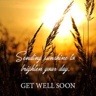 get well soon picture message with sunshine image