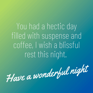 have-a-wonderful-evening-message